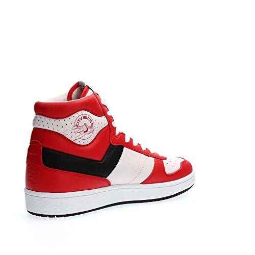 Sneaker Mainapps Uomo black white Hi citywings Red TqTnxvrOR