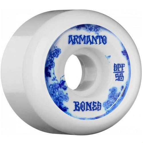 あなたが良くなりますクリームソフィースケートボード ボーンズ ウィール BONES SPF ARMANTO BLUE CHINA 56×32mm/P5 84B