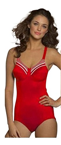 D Cup Swimming Costumes (Ladies Triumph Doreen O Soft Cup Supportive Swimming Costume Swimsuit Red 40D)
