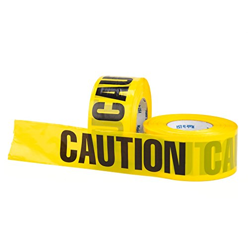 (Chu's Packaging Supplies OEEC31M20YB Barricade Tape, Yellow CAUTION, 2.0 mil (Pack of)