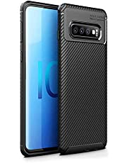 HEYUS for Samsung Galaxy S10 Plus Case, Protective Carbon Fiber Case Cover Compatible with Samsung Galaxy S10 Plus Lightweight Ultra Thin Slim