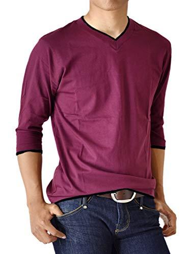 ドットダイヤル住人(アローナ) ARONA 7分袖 Tシャツ 七分袖 カットソー 無地 シンプル メンズ M L LL 3L /M1.5/