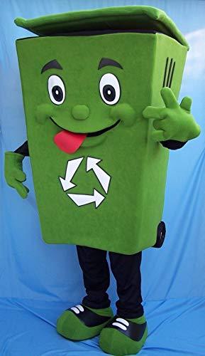 CostumeShine Recycle Bin Mascot Costume for Adult Men