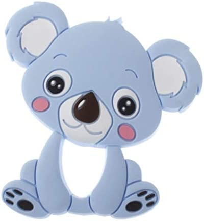 Mordedor bebé koala azul silicona alivio dentición: Amazon.es: Bebé