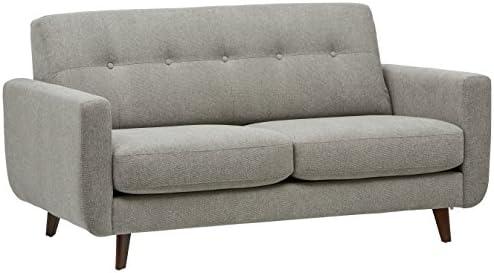 Rivet Sloane Mid-Century Modern Sofa with Tufted Back, 79.9 W, Pebble