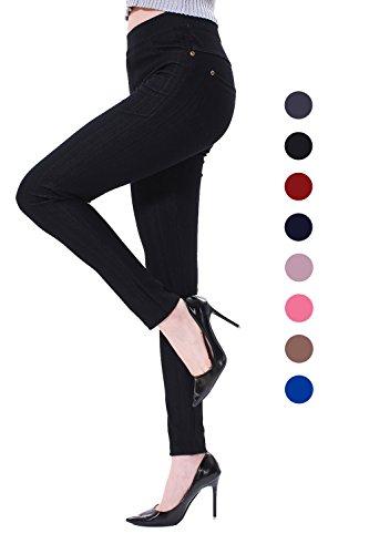 Sipaya Fashion High Waist Back Pockets Jeans Leggings Women's Stretch Denim Jeggings XL ()