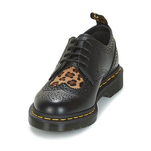 italian Hair On Smooth Polished Medium Heart Leopard Dr Black Martens Joyce 8Hq7Z