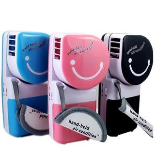 USB Mini Portátil de mano Aire acondicionado ventilador Color (pink. blue. Negro)