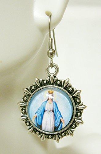 Miraculous Medal earrings - AP03-220 ()