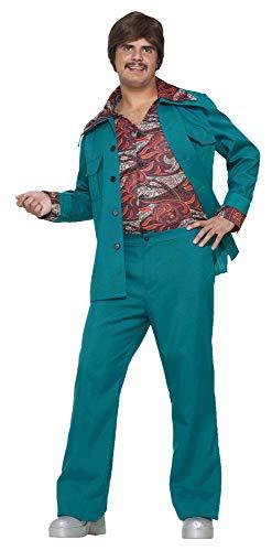 Forum Novelties Men's 70's Disco Fever Costume Leisure Suit, Blue/Green, Standard]()