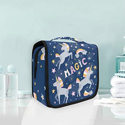 Makeup Cosmetic Bag Starry Night Magic Unicorn Portable Storage Travel Toiletry Bag