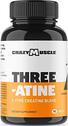 Creatine Monohydrate Pills - Proven Muscle Builder - 90 Tablets (Better Than Capsules) with Over 5,000mg (5g) of Creatine Monohydrate, Pyruvate + AKG per Serving - Optimum Strength Supplement