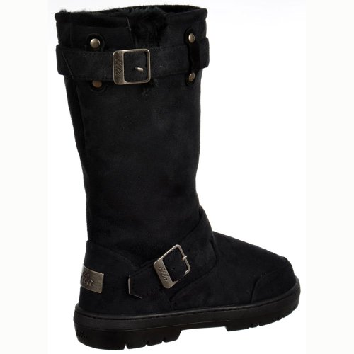 Biker Dark Brown Brown Lined Chestnut Ella Snow Fur AU8 EU40 Black Ladies Winter US9 Boot UK7 Black Womens Flat Grey p4xq7nEf