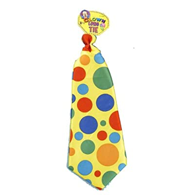 Jumbo Polka Dot Clown Tie: Toys & Games