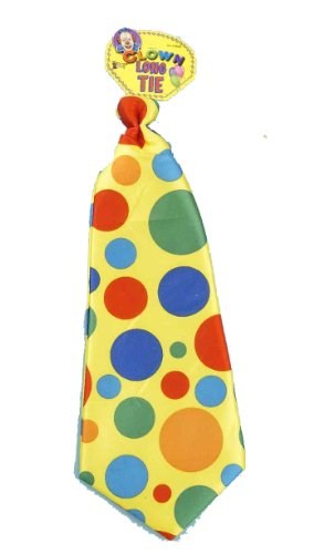 Circus Themed Costumes For Adults (Jumbo Polka Dot Clown Tie)