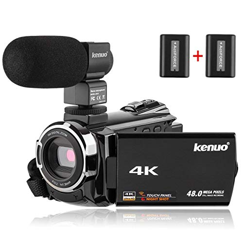 Kenuo 4K Camcorder, 48MP Portable Ultra-HD 60FPS WiFi Digital Video Camera 3.0