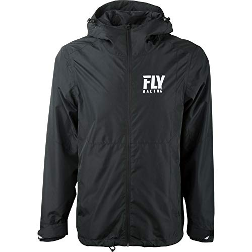 (Fly Racing Pit Hooded Full Zip Mens Jackets - Large )