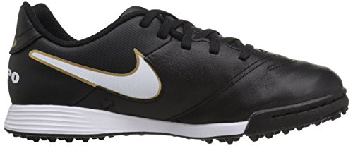 VI Shoe Tf Black White Legend Metallic Tiempo Jr Nike Soccer Turf Gold Kids 8Uq4IxRnA