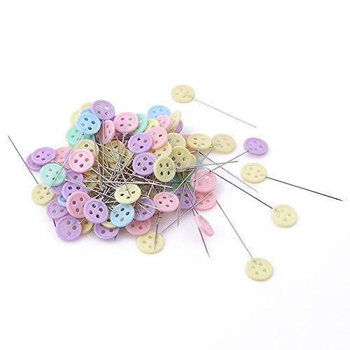 Sun Glower Speciale 100pcs spilli con Testa a Forma di Bottone DIY Craft Cucito Pins (colorato) Perfetto per i Vostri Amici