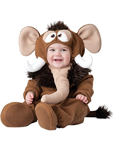 InCharacter Baby's Wee Wooly Mammoth Costume, Brown/Tan, Small -