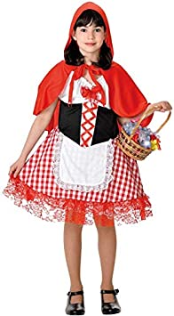 DISBACANAL Disfraz Caperucita Roja niña - Blanco, 6 años ...