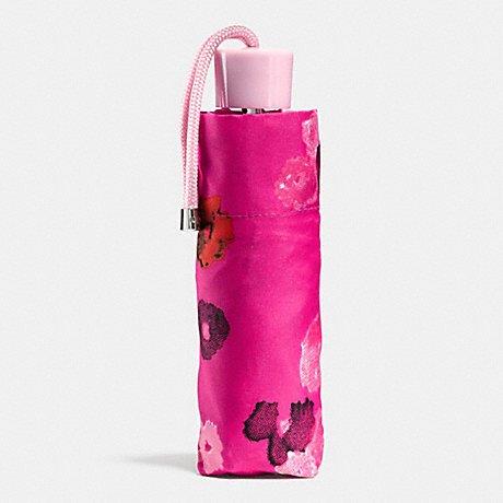 Coach Floral Print Signature Compact Folding Umbrella 63675 Pink Multicolor