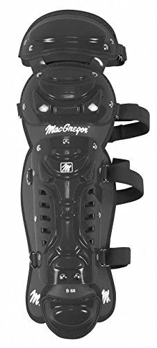 Junior B68 Double Knee Leg Guard, Black