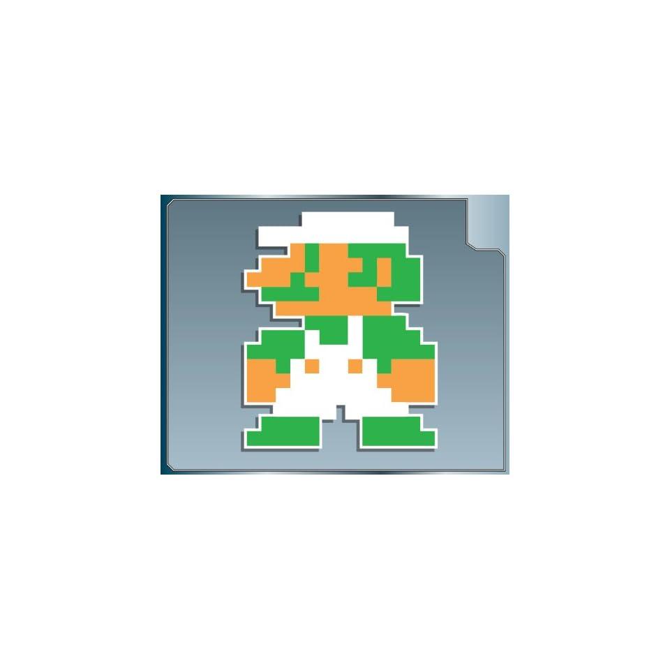 MINI LUIGI 8 bit from Super Mario Bros. vinyl decal sticker