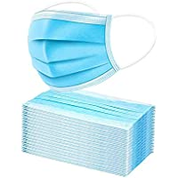 50-Pack Disposable Cotton Protective 3 Layer Face Masks