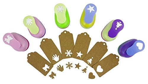 BeGrit Paper Punches Set Pugni Artigianato Decorativo frese per Biglietti creazione Scrapbook DIY Christmas Festival stella