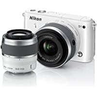Nikon 1 S1 10.1 MP HD Digital Camera with 11-27.5mm & 30-110mm VR Lenses (White) [Electronics]