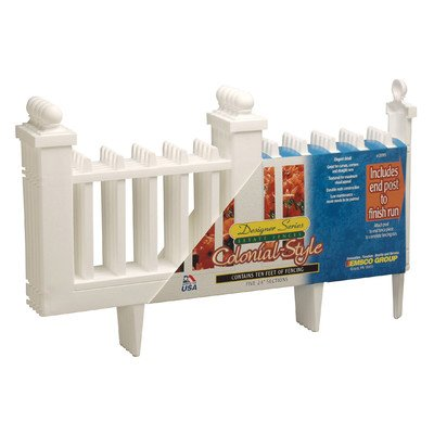 Emsco 2095DS Deluxe Colonial Resin Fence - (Colonial Fence)