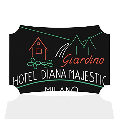 Aluminum Metal Wall Decor Hotel Diana Majestic Milano Old Horizontal Poster Picture Photo Print Wall Art - Berlin Shape, 21