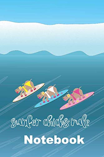 - Hippo Surfer Chicks Rule The Waves Notebook: Funny gift blank lined Hawaiian style covered journal with cheeky surf quote in text especially for girls ... make it easy to organise and reference notes.