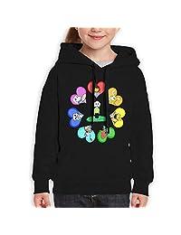 AlbertV Undertale Teenager Hoodies Sweater for Boys and Girls Black