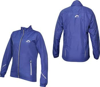 Blue More Mile Reflective Womens Running Jacket