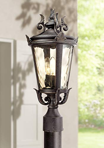 Traditional Outdoor Post Lamp - Casa Marseille Traditional Outdoor Post Light Veranda Bronze Ornate Scroll 20 1/2
