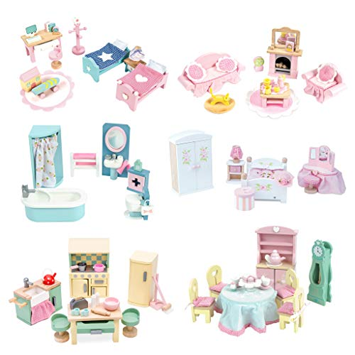 Le Toy Van Daisylane Children's Bedroom Premium Wooden Toys for Kids Ages 3 years & Up