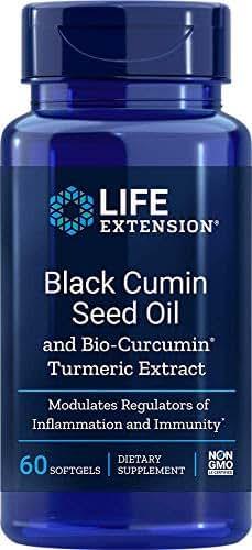 Life Extension Black Cumin Seed Oil with Bio Curcumin 60 Softgels