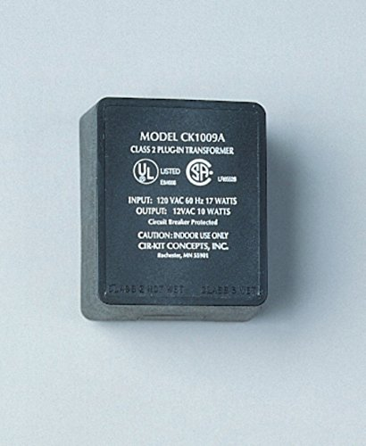 Cir-Kit Concepts Dollhouse Miniature 10W Transformer, 12v