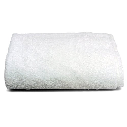 Luxury White Bath Sheet, Egyptian Cotton, Ultra Soft & Absorbent By Winter Park Towel Co. (Oversized Large 40 by 72 Inches) (Hand Frette Towel)