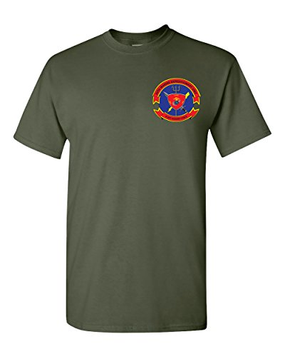 USMC 26th Marine Expeditionary Unit 26 MEU Insignia Shirt (Military Green, Large)