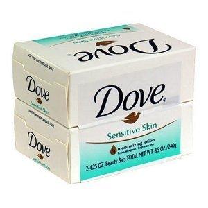 Dove Sensitive Skin Unscented Hypo-Allergenic Beauty Bar 4 o