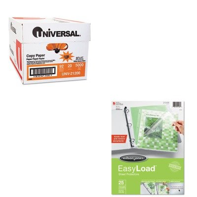 KITUNV21200WLJ21439 - Value Kit - Wilson Jones Easy Load Sheet Protector (WLJ21439) and Universal Copy Paper (UNV21200)