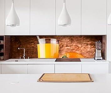 Aufkleber Küchenrückwand Saft Orange Orangensaft Getränk Glas Küche ...