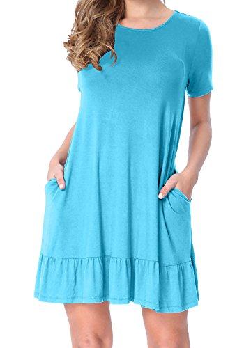 LAINAB Womens Summer Sleeve Pocket