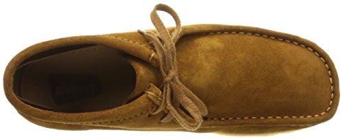 Clarks Hombres Wallabee Boot bronce Suede marrón