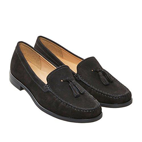 Van Dal Shoes Womens Whitford II Loafers in Black Nubuck HaAMA1j