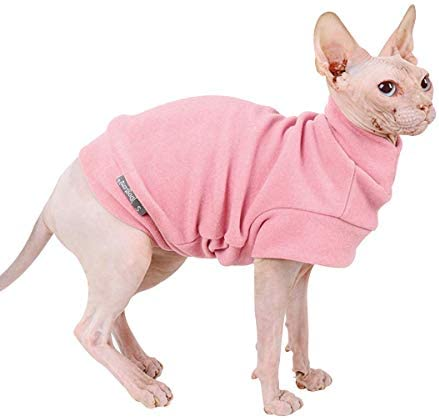 Small Dogs Fleece Dog Sweatshirt - Cold Weather Hoodies Spring Soft Vest Thickening Warm Cat Sweater Puppy Clothes Sweater Winter Sweatshirt Pet Pajamas for Small Dog Cat Puppy 19