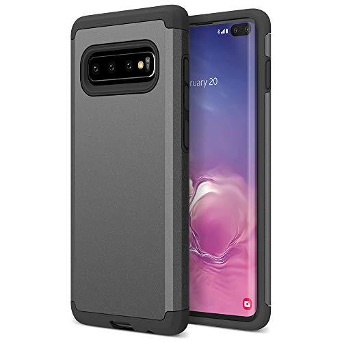 Trianium Protanium Case Designed for S10 Plus with GXD Impact Gel Cushion/PowerShare Compatible/Reinforced Hard Bumper [Premium Protection] Heavy Duty Covers for Samsung Galaxy S10+ / S10Plus (2019)